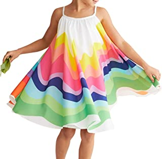 Toddler Baby Girl Summer Boho Rainbow Stripe Spaghetti...