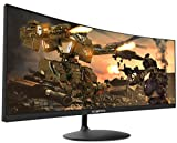 Sceptre 34-inch Curved UltraWide 21: 9 Creative LED Monitor 2560x1080 Frameless HDMI DisplayPort Up to 100Hz, Machine Black 2020 (C345W-2560UN)