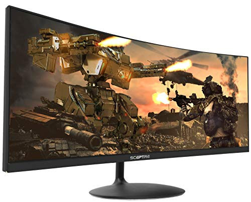 Sceptre 34-inch Curved UltraWide 21: 9 Creative LED Monitor 2560x1080 Frameless HDMI DisplayPort Up to 100Hz,...