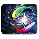 Yanteng Cojín de ratón del Juego, Pescado Colorido para el cojín de ratón del rectángulo de la natación Mousepad