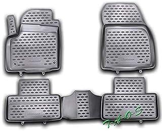 8//11-3//19 Áspero alfombrillas de goma Octagon negro Land Rover Range Rover Evoque 5trg año de fabricación