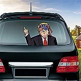 MIYSNEIRN Anti Biden Rear Wiper Decal,Funny Trump Decal-Fk You Sign Wiper Decals for Rear Window,Waterproof Rear Windshield Wiper Decal