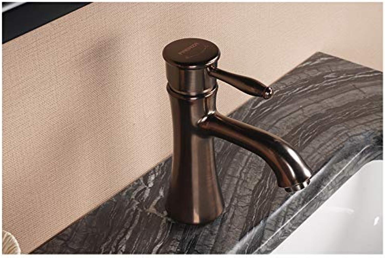 CZOOR Becken Wasserhahn heien und kalten Wasserhahn AntikGold Einlochmontage Kupferhahn, F1A9003F