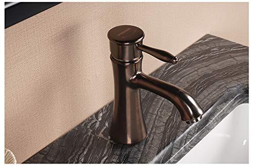 CZOOR Rubinetto per lavabo rubinetto caldo e freddo rubinetteria monoforo in oro antico, F1A9003F