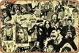 Rock Band Rock star Rock N Roll Rock Music Cartel de chapa vintage, cartel de cartel de metal, placa de pintura de hierro retro, decoración de pared artística, 12 × 8 pulgadas