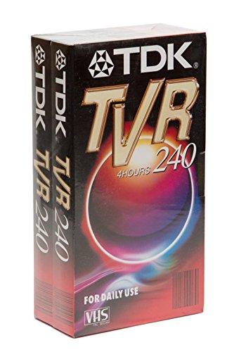 TDK TVR 240 4h VHS Leerkassetten - Doppelpack | 2er Pack