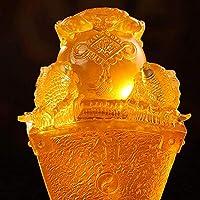 Feng Shui Decoリビングルーム数字、ビーズ彫刻、ホーム、オフィスの装飾、黄色,A