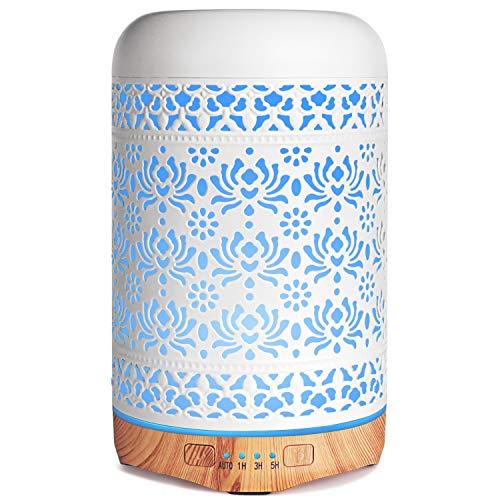 Salking Aroma Diffuser, 260ml Metall Diffusor für Ätherische Öle, BPA-Free Aromatherapie Diffusor mit Einstellbarem Nebelmodus, Automatisch Power-Off Duftlampe für Büro Yoga