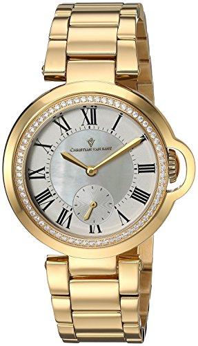 Christian Van Sant Damen analog Quarz Uhr mit Edelstahl Armband CV0231