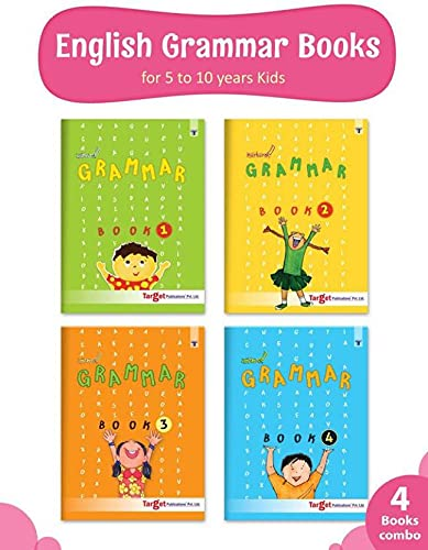 Nurture English Grammar and Composition Books for Kids   5 to 10 Year Old   Practice Exercises with Colourful Pictures for Primary Children   Book 1 to 4 - Set of 4 Books