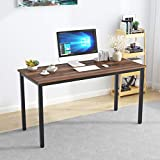 SDHYL 55 inches Contemporary Computer Desk Spacious Workstation Sturdy Writing Desk Meeting Desk, S7-GCP2AC3-140BW-N