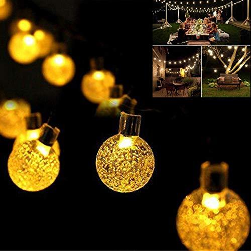 Luz Solar 10M Lámpara Solar Bola de cristal Cadena de luces LED Flash Guirnalda de hadas para jardín al aire libre Decoración de boda de Navidad