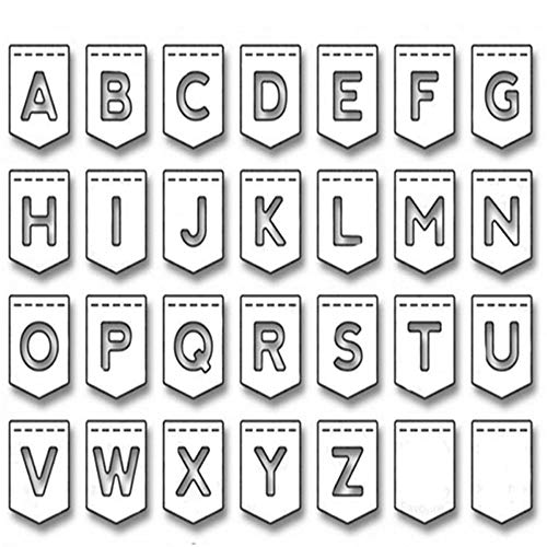 WOZOW Scrapbooking Stanzschablone Süß Prägeschablonen Schablonen Stanzen Stanzformen Zubehör für Sizzix Big Shot und andere Prägemaschine (B Buchstabe des Alphabets)