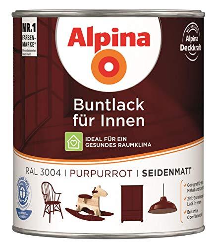 Alpina Buntlack Metalllack 0,75L purpurrot Ral 3004 seidenmatt Innen