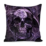 Amzbeauty Purple Skull Printed Throw Pillow Covers Home Bedroom Living Room Decorative Gifts...
