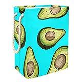 Vito546rton Receta de aguacate cestas de lavandería de alta resistencia, plegable para adultos, niños, adolescentes, niñas en dormitorios y baño