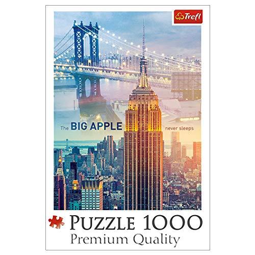 Trefl 10393 New York bei Tagesanbruch 1000 Teile, Premium Quality, für Erwachsene und Kinder ab 12 Jahren Puzzle, Farbig