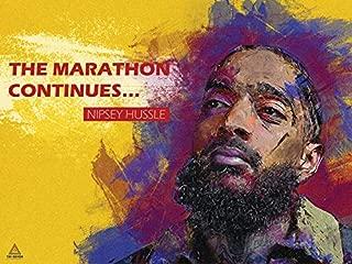 777 Tri-Seven Entertainment Nipsey Hussle Poster The Marathon Continues II Art Print (24x18), Multi-Color