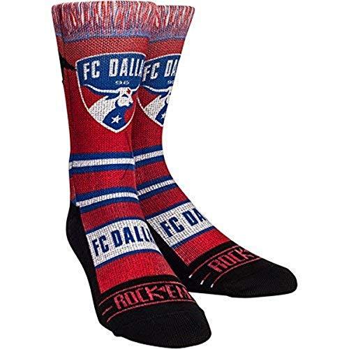 MLS Fc Dallas Scarf Custom Athletic Crew Socks, Large/X-Large, Red