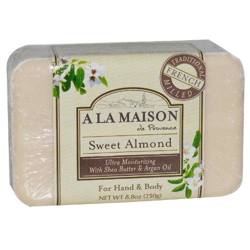 A LA MAISON BAR SOAP,SWEET ALMOND, 8.8 OZ