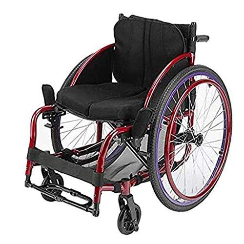 H&1 Silla de Ruedas eléctrica Moda Casual Deportes Ultraligero Scooter de Movilidad Plegable portátil Rueda Delantera Universal giratoria de 360 Grados