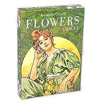 Flowers Oracle EGuideブック付きの完全英語版のタロットデッキEinstructionカードゲーム占いゲームは運命予測カードゲームを設定します