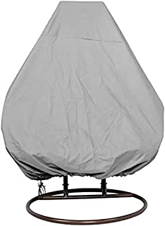 Cheng Yi Hanging Chair Cover for Double Swinging Egg Chair/Pod Chair/Swingasan,2Person Outdoor Patio Garden Hanging Wicker Swing Chair Cover,Water-Resistant,All Weather Protection CYFC88 (Grey)