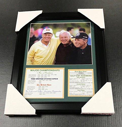 11X14 Framed & Matted Jack Nicklaus , Arnold Palmer , Gary Player Major List 8X10 PHOTO PGA