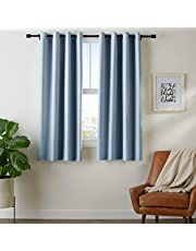 Amazon Basics Room-Darkening Blackout Curtain Set with Grommets