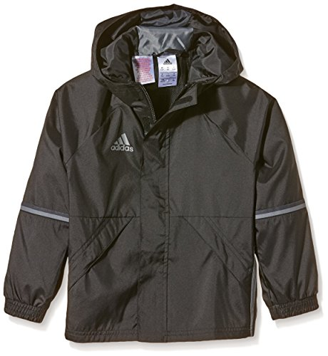 adidas Kinder Jacke/Anoraks Con16 Rain Jkty, Black/Vista Grey, 116