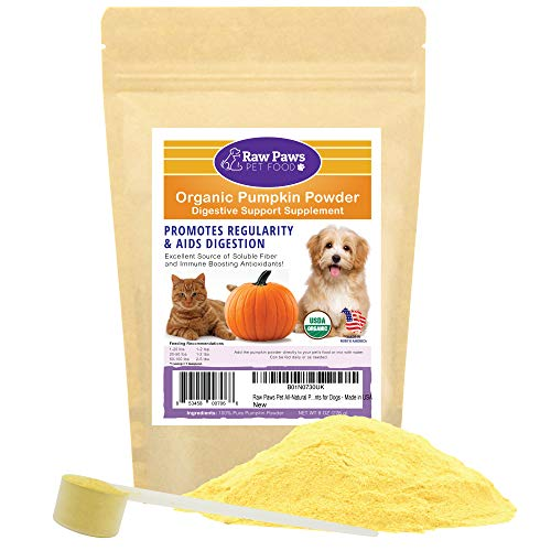 Raw Paws Pet Organic Pure Pumpkin for Dogs & Cats,...