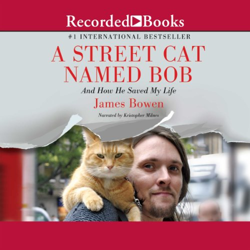 A Street Cat Named Bob audiobook cover art