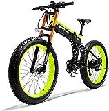 CASTOR Bicicleta electrica Bicicletas, 26'Bici de montaña eléctrica 36V 250W 6Ah Batería de Litio de Litio Diseño de batería Oculta 35 Millas Rank and Dual Disc Frenos Aleación eléctrica Bicycle