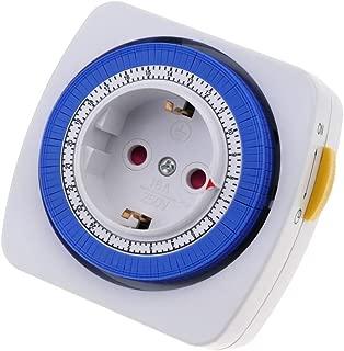 BeMatik - Programador eléctrico mecánico Diario Tipo Enchufe Compacto