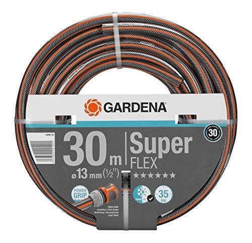 Gardena Premium SuperFLEX Schlauch 13mm (1/2 Zoll), 30 m: Gartenschlauch mit Power-Grip-Profil, 35 bar Berstdruck, hochflexibel, formstabil, UV-beständig (18096-20)