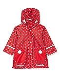 Playshoes Regen-Mantel Punkte Capo d'Abbigliamento, Rosso, 80 Mädchen