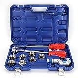 Expansor de tubo manual Herramienta de ensanchamiento de tubo para tuberías de 10-28 mm Expansor de tubería de plomería Herramienta de expansión de tubería para cobre Aluminio