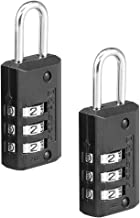 Master Lock 646T Set Your Own Combination Luggage Lock, 2 Pack, Black