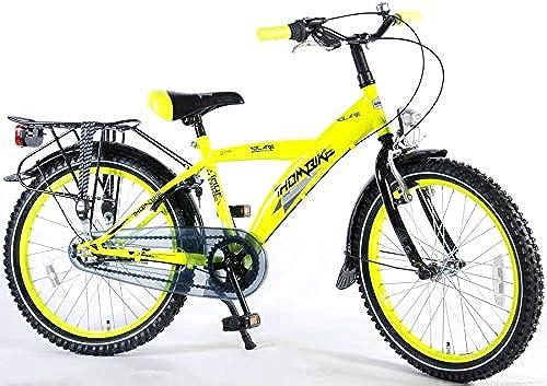 .Thombike City Kinderfürrad Jungen 20 Zoll Shimano Nexus 3-Gang-Getriebe Gep tr r Gelb Fluoreszierend 95% Zusammengebaut