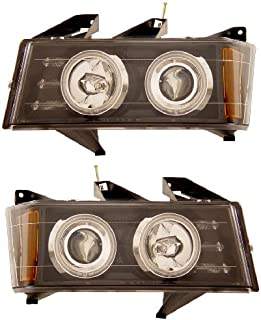 CHEVY COLORADO / G.M.C CANYON 04-06 PROJECTOR HEADLIGHT BLACK CLEAR (CCFL) NEW