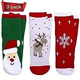 3 PCS Christmas Kids Socks Warm Winter Crew Socks Unisex Cotton Socks Xmas Gif