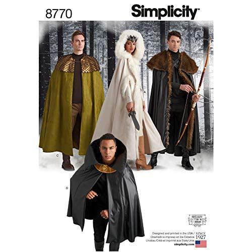 Simplicity Schnittmuster 8770 Kostüme, Capes OS (Einheitsgröße)