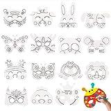 DIY Blank Paper Graffiti Masks,Kids Jungle...