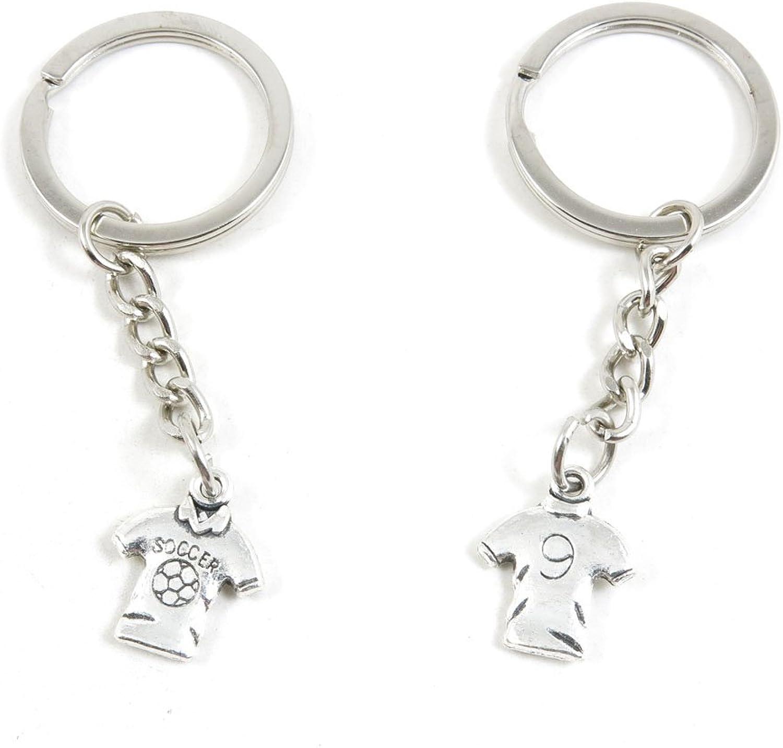 230 Pieces Fashion Jewelry Keyring Keychain Door Car Key Tag Ring Chain Supplier Supply Wholesale Bulk Lots A8OK1 Short Shirt