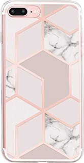 16Jessie Case Compatible for iPhone 8 Plus,Slim Silicone Gel TPU Transparent HD Clear Soft Protection Cover for iPhone 7 Plus (6, iPhone 8 Plus)