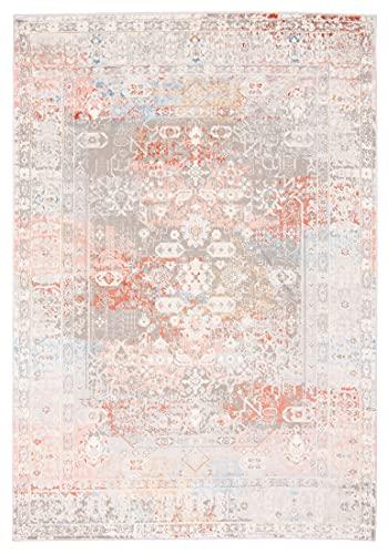 Carpeto Rugs Tappeto Stile Vintage Orientale - Tappeto per Salotto e Camera da Letto - Disponibile in Diversi Colori e Taglie Crema Salmone 80 x 150 cm