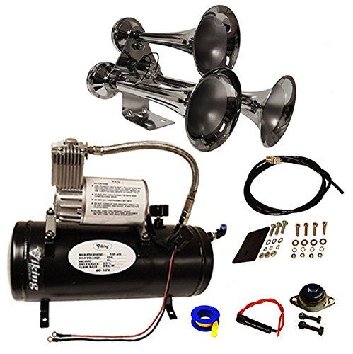Viking Horns V3305/307 Loud 3 Trumpet Train Sound Air Horn...