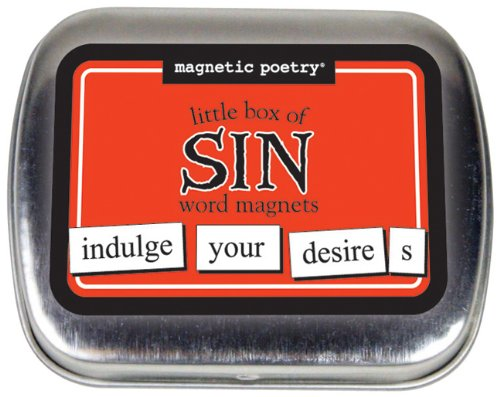 Magnetic Poetry - Little Box of Sin Kit - Words for Refrigerator - Write Poems and Letters on The Fridge - Made in The USA
