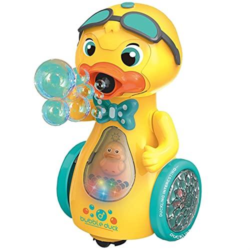 ZKLL Blase Maschine Für Kinder, Tragbare Niedliche Ente Blase Maschine Maschine Automatische Bubble Maker Für Kleinkinder Alter 4-8 Outdoor Spielzeug Für 1-3 2-4 4-8 Jungen Mädchen Geburtstagsgeschenk