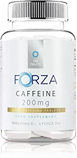 Pure Caffeine Tablets - Strong Pills for Energy Boost & Alertness - Battles Fatigue - Boosts Energy (150 Capsules)